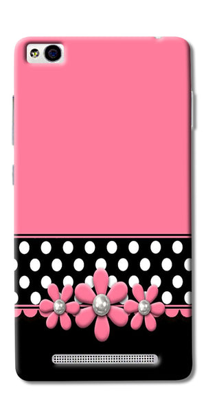 Pink Black Girly Design Printed Designer Back Case Cover For Xiaomi Redmi 3s