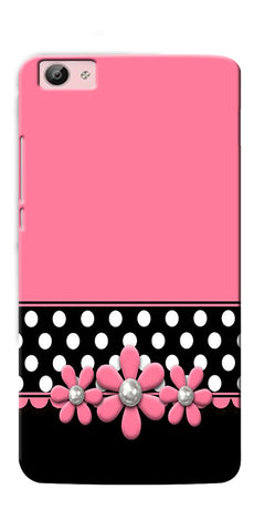 Digiprints Pink Black Girly Design Printed Designer Back Case Cover For Vivo V5