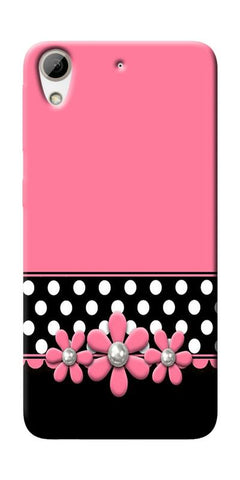Pink Black Girly Design Printed Designer Back Case Cover For HTC Desire 626