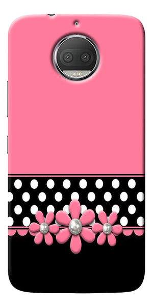Pink Black Girly Design Printed Designer Back Case Cover For Motorola Moto G5S Plus