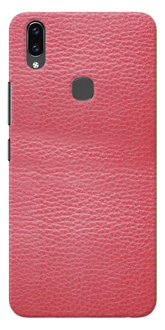 Pink Leather Design Printed Designer Back Case Cover For Vivo V9