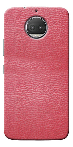 Pink Leather Design Printed Designer Back Case Cover For Motorola Moto G5S Plus