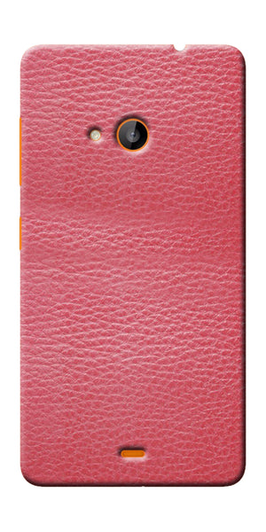 Digiprints Pink Leather Design Printed Designer Back Case Cover For Microsoft Lumia 540
