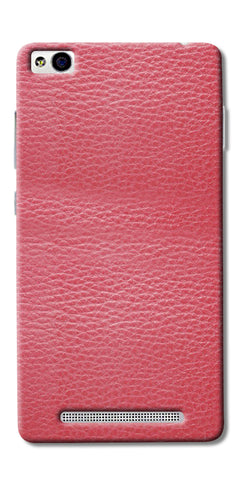 Pink Leather Design Printed Designer Back Case Cover For Xiaomi Redmi 3s