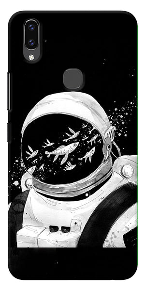 Fish And Astranaut Art Printed Designer Back Case Cover For Vivo V9