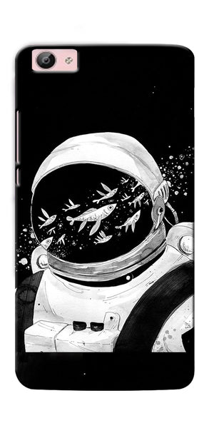 Digiprints Fish And Astranaut Art Printed Designer Back Case Cover For Vivo V5 Plus