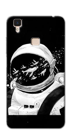 Digiprints Fish And Astranaut Art Printed Designer Back Case Cover For Vivo V3
