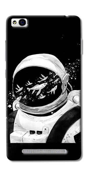 Fish And Astranaut Art Printed Designer Back Case Cover For Xiaomi Redmi 3s