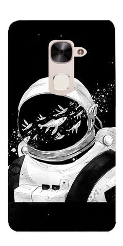 Fish And Astranaut Art Printed Designer Back Case Cover For LeEco Le 2