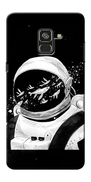 Fish And Astranaut Art Printed Designer Back Case Cover For Samsung Galaxy A8 Plus 2018