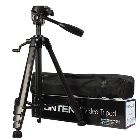 Premium High Quality VCT-5208 Tripod With Bluetooth Remote Control Shutter For Mobile Phones, DSLR, and Sports Cameras