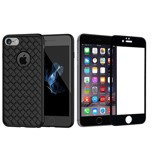 Digiprints Combo TPU Soft Flexible Shock Proof Back Cover Plus Black Tempered Glass For Apple iPhone 6