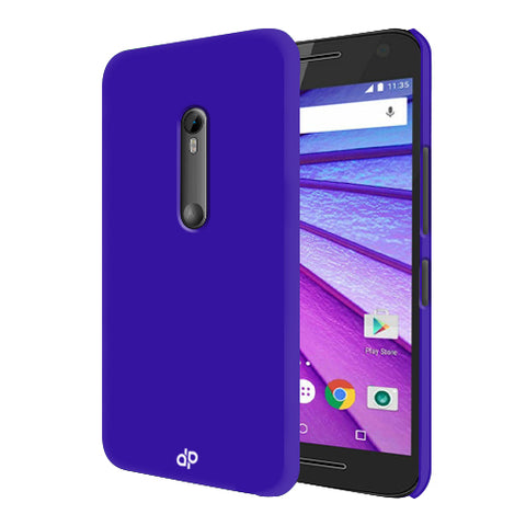 Digiprints Hard Back Case for Motorola Moto G3-Blue