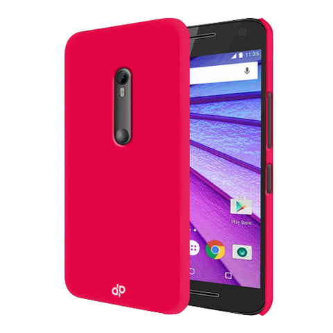 Digiprints Hard Back Case for Motorola Moto G3-Hot Pink