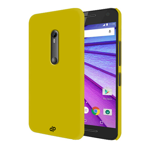Digiprints Hard Back Case for Motorola Moto G3-Yellow