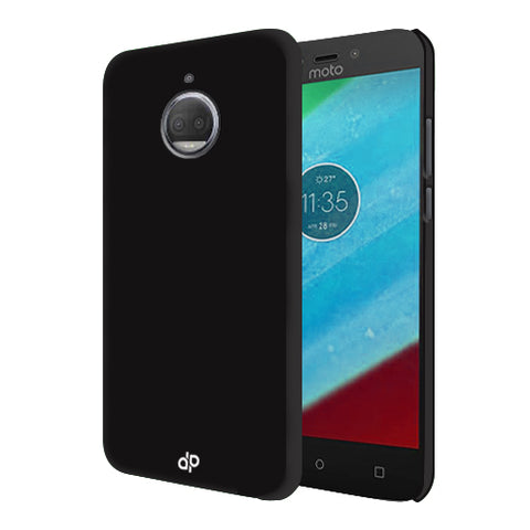 Digiprints Hard Back Case for Motorola Moto G5S Plus-Black