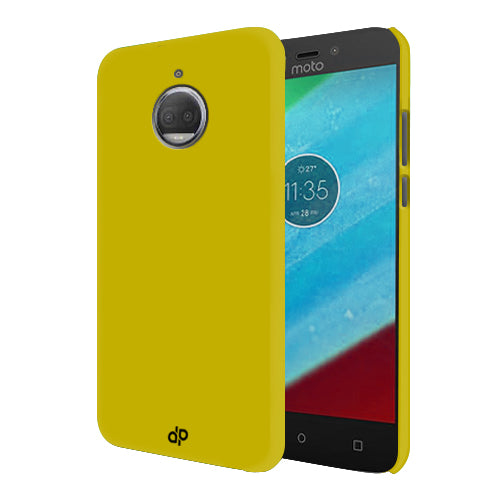 Digiprints Hard Back Case for Motorola Moto G5S Plus-Yellow