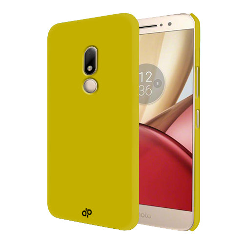 Digiprints Hard Back Case for Motorola Moto M-Yellow