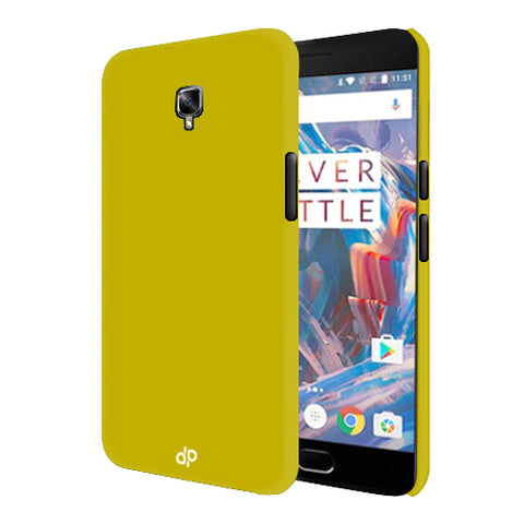 Digiprints Hard Back Case for Oneplus 3T-Yellow