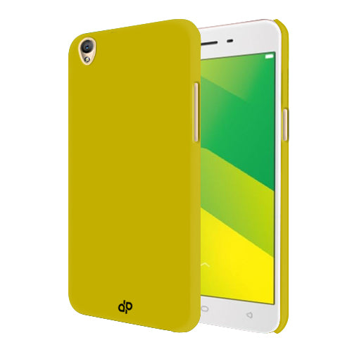 Digiprints Hard Back Case for Oppo A37-Yellow
