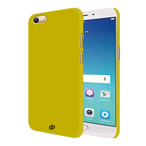 Digiprints Hard Back Case for Oppo F3-Yellow