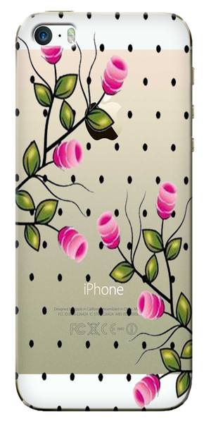 Rose Plant Designer Clear Case For Apple Iphone 5