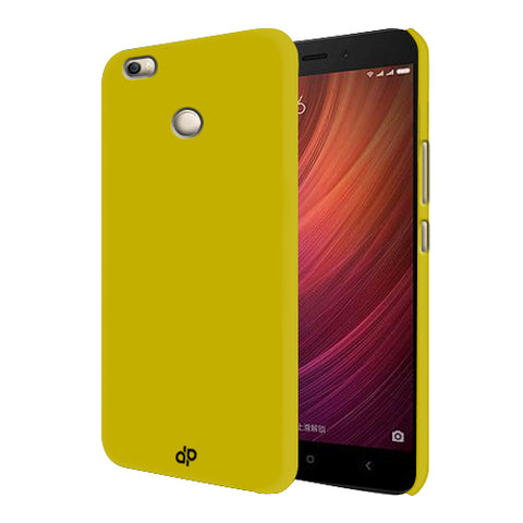 Digiprints Hard Back Case for Xiaomi Redmi 4-Yellow