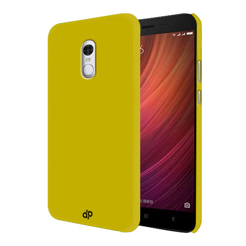 Digiprints Hard Back Case for Xiaomi Redmi Note 4-Yellow