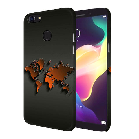 Digiprints World Map Art Design Printed Designer Back Case Cover For Oppo F5 Youth