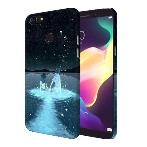 Digiprints Radium Night View Printed Designer Back Case Cover For Oppo F5 Youth