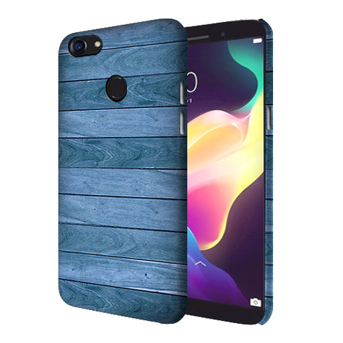 Digiprints Blue Wooden Design Printed Designer Back Case Cover For Oppo F5 Youth