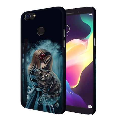 Digiprints Kitty Art Painting Design Printed Designer Back Case Cover For Oppo F5 Youth