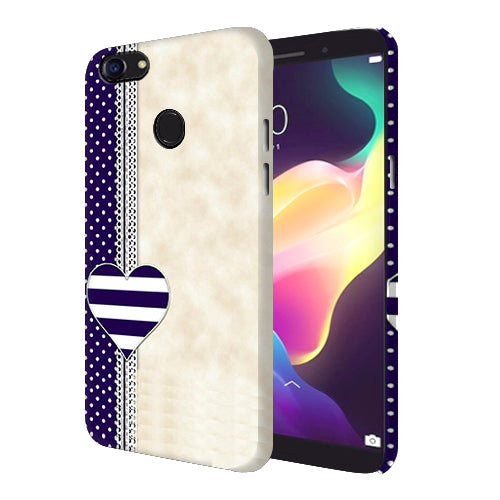 Digiprints Heart Design Love Pattern Printed Designer Back Case Cover For Oppo F5 Youth
