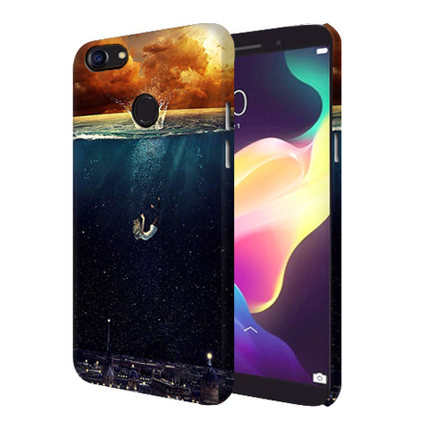 Digiprints Beautiful City In Sea Printed Designer Back Case Cover For Oppo F5 Youth