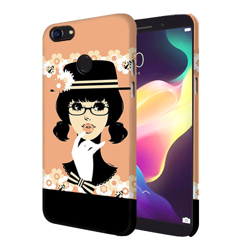 Digiprints Thinking Lady Printed Designer Back Case Cover For Oppo F5 Youth