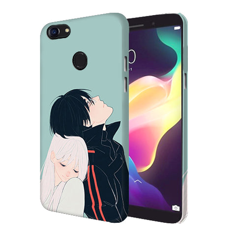Digiprints Cute Couple Printed Designer Back Case Cover For Oppo F5 Youth