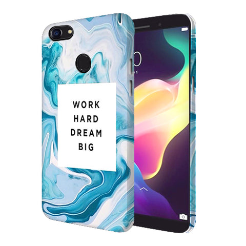 Digiprints Work Hard Dream Big Printed Designer Back Case Cover For Oppo F5 Youth