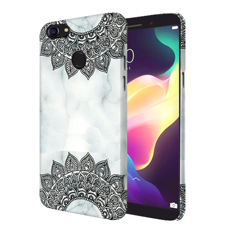 Digiprints Ehtnic Pattern On Marble Printed Designer Back Case Cover For Oppo F5 Youth