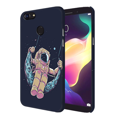 Digiprints Astranaut Riding Moon Printed Designer Back Case Cover For Oppo F5 Youth
