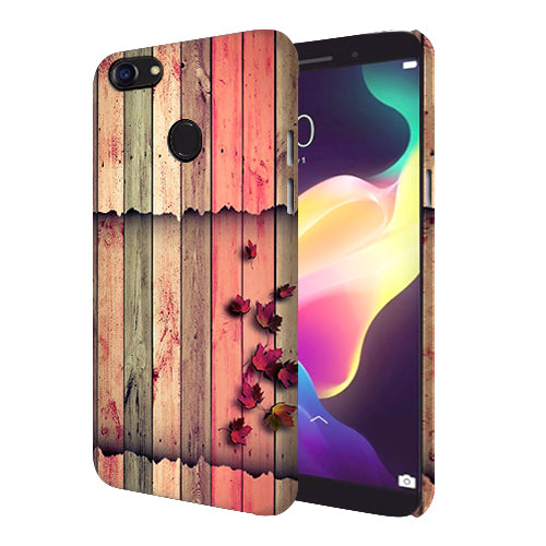 Digiprints Spring Wood Pattern Printed Designer Back Case Cover For Oppo F5 Youth