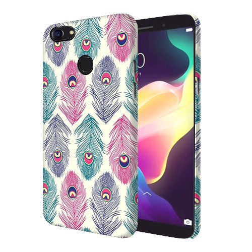 Digiprints Colorful Feathers Printed Designer Back Case Cover For Oppo F5 Youth