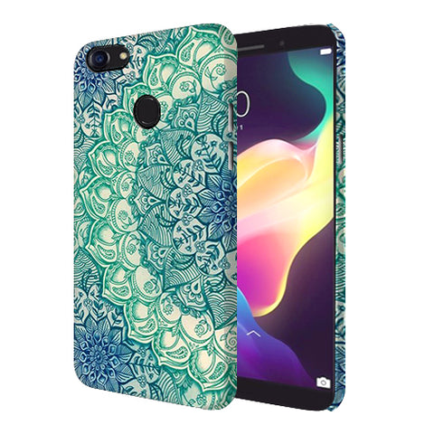 Digiprints Green Ethnic Pattern Printed Designer Back Case Cover For Oppo F5 Youth