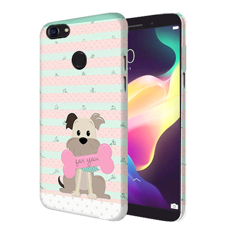 Digiprints Innocent Puppy  Printed Designer Back Case Cover For Oppo F5 Youth