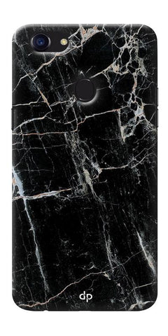 Digiprints Black Marble Design 2 Printed Designer Back Case Cover For Oppo F5