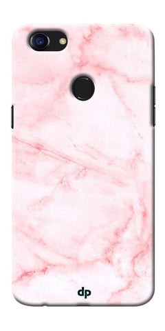 Digiprints Pink textured Marble Design 4 Printed Designer Back Case Cover For Oppo F5