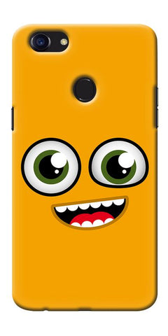 Digiprints Cartoon Yellow Printed Designer Back Case Cover For Oppo F5