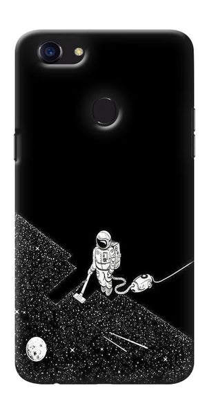 Digiprints Vaccume Claner In Space Printed Designer Back Case Cover For Oppo F5