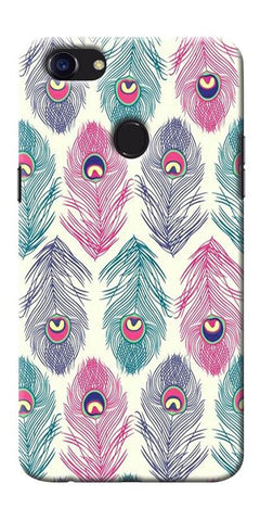 Digiprints Colorful Feathers Printed Designer Back Case Cover For Oppo F5