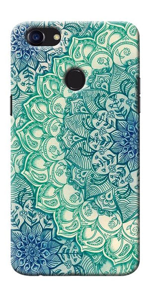 Digiprints Green Ethnic Pattern Printed Designer Back Case Cover For Oppo F5