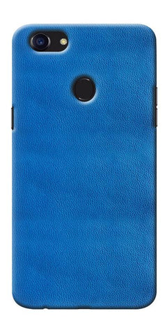 Digiprints Blue Leather Pattern Printed Designer Back Case Cover For Oppo F5